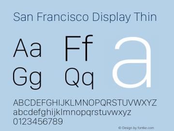 SanFranciscoDisplay-Thin 10.0d27e2--BETA图片样张