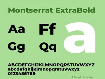 Montserrat ExtraBold Regular Version 7.200图片样张