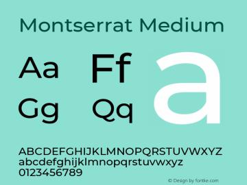 Montserrat Medium Regular Version 7.200图片样张