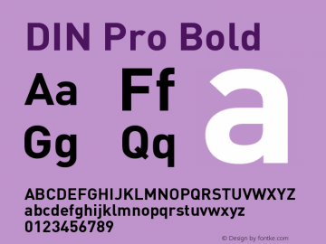 DIN Pro Bold Version 7.504; 2005; Build 1020图片样张