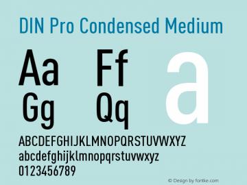 DIN Pro Condensed Medium Version 7.504; 2005; Build 1020图片样张