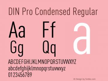 DIN Pro Condensed Regular Version 7.504; 2005; Build 1020图片样张