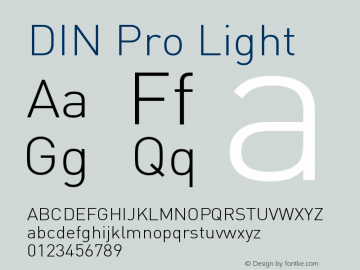 DIN Pro Light Version 7.504; 2005; Build 1020图片样张