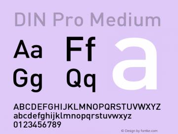 DIN Pro Medium Version 7.504; 2005; Build 1020图片样张