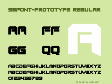 SBFONT-Prototype Version 4.002 April 26, 2007图片样张