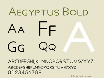 Aegyptus Bold Version 6.17图片样张