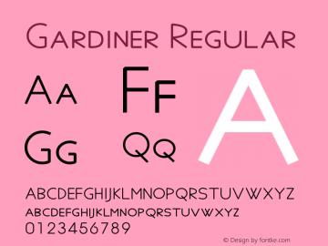 Gardiner Version 6.17图片样张