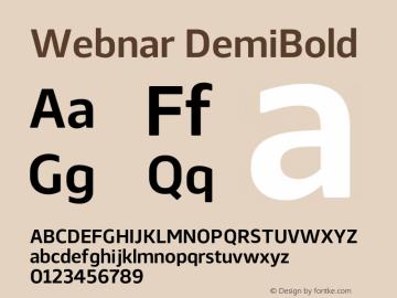 Webnar DemiBold Version 1.000;PS 001.000;hotconv 1.0.70;makeotf.lib2.5.58329图片样张