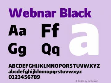 Webnar Black Version 1.000;PS 001.000;hotconv 1.0.70;makeotf.lib2.5.58329图片样张