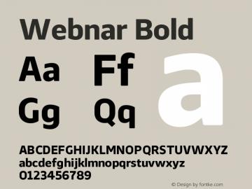 Webnar Bold Version 1.000;PS 001.000;hotconv 1.0.70;makeotf.lib2.5.58329图片样张
