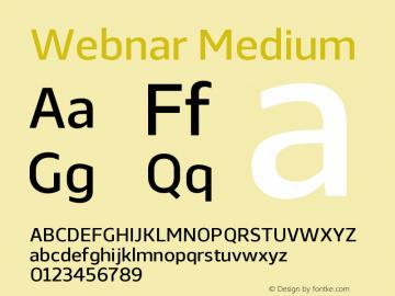 Webnar Medium Version 1.000;PS 001.000;hotconv 1.0.70;makeotf.lib2.5.58329图片样张