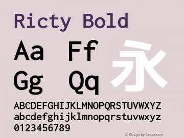 Ricty Bold Version 3.2.1b图片样张