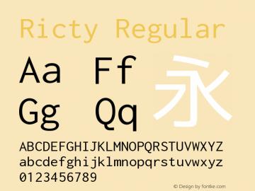 Ricty Regular Version 3.2.1b图片样张