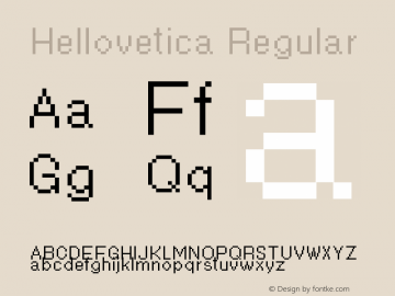 Hellovetica Version 3.2图片样张