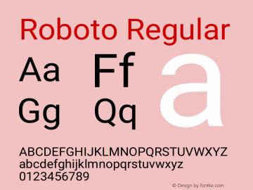 Roboto Version 2.137; 2017图片样张
