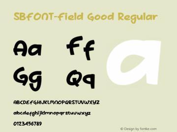 SBFONT-Field Good Version 4.002 2020图片样张