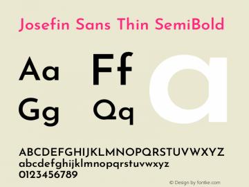 Josefin Sans Thin SemiBold Version 2.000图片样张