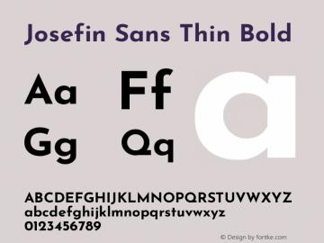 Josefin Sans Thin Bold Version 2.000图片样张