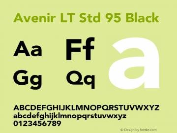 AvenirLTStd-Black OTF 1.029;PS 001.001;Core 1.0.33;makeotf.lib1.4.1585; ttfautohint (v1.6)图片样张