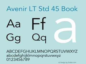 AvenirLTStd-Book OTF 1.029;PS 001.001;Core 1.0.33;makeotf.lib1.4.1585; ttfautohint (v1.6)图片样张