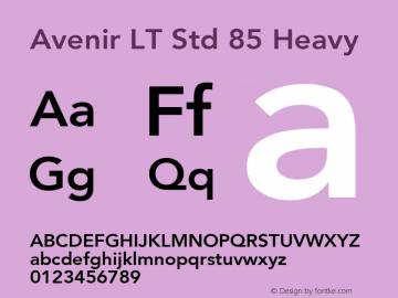 AvenirLTStd-Heavy OTF 1.029;PS 001.002;Core 1.0.33;makeotf.lib1.4.1585; ttfautohint (v1.6)图片样张