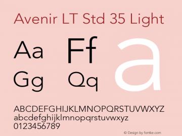 AvenirLTStd-Light OTF 1.029;PS 001.001;Core 1.0.33;makeotf.lib1.4.1585; ttfautohint (v1.6)图片样张
