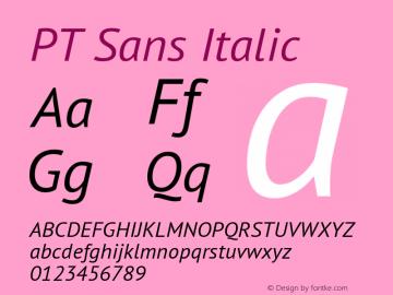PT Sans Italic 10.0d1e1图片样张