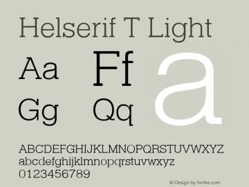 HelserifTLig Version 1.10图片样张