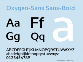 Oxygen Sans Bold 0.4图片样张