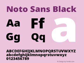 Noto Sans Black Version 2.003图片样张