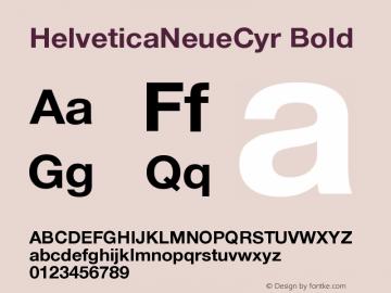 HelveticaNeueCyr-Bold 001.000图片样张