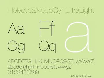 HelveticaNeueCyr-UltraLight 001.000图片样张