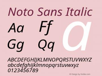 Noto Sans Italic Version 2.004; ttfautohint (v1.8.3) -l 8 -r 50 -G 200 -x 14 -D latn -f none -a qsq -X