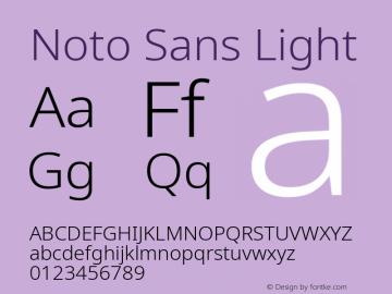 Noto Sans Light Version 2.004; ttfautohint (v1.8.3) -l 8 -r 50 -G 200 -x 14 -D latn -f none -a qsq -X
