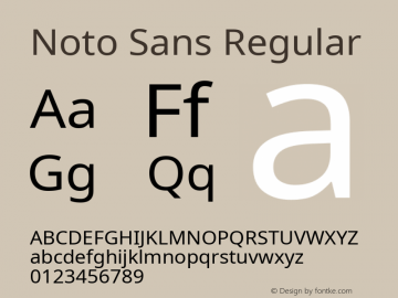 Noto Sans Regular Version 2.004; ttfautohint (v1.8.3) -l 8 -r 50 -G 200 -x 14 -D latn -f none -a qsq -X