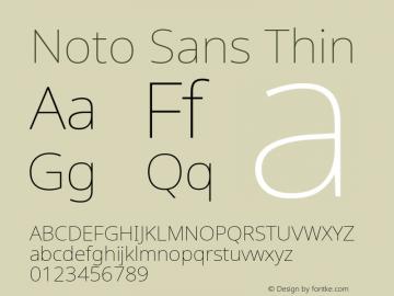 Noto Sans Thin Version 2.004; ttfautohint (v1.8.3) -l 8 -r 50 -G 200 -x 14 -D latn -f none -a qsq -X