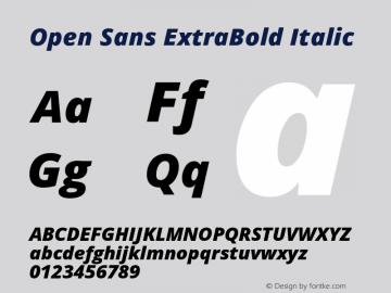 Open Sans ExtraBold Italic Version 1.10图片样张