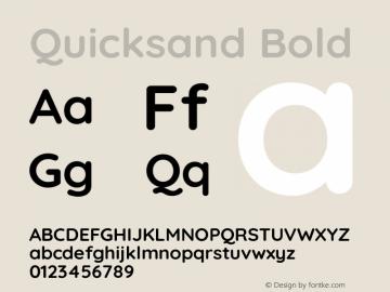 Quicksand Bold Version 3.004图片样张