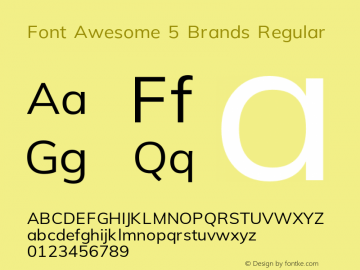 Font Awesome 5 Brands Regular 5.0 (build: 1525964628)图片样张