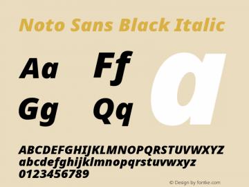 Noto Sans Black Italic Version 2.003图片样张