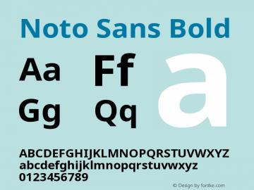 Noto Sans Bold Version 2.003图片样张
