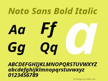 Noto Sans Bold Italic Version 2.003图片样张