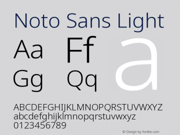 Noto Sans Light Version 2.003图片样张