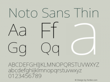Noto Sans Thin Version 2.003图片样张