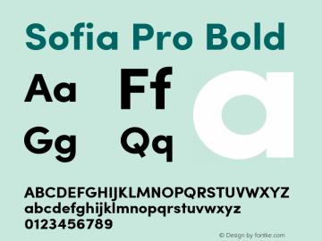 Sofia Pro Bold Version 2.000图片样张