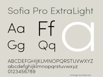 Sofia Pro ExtraLight Version 2.000图片样张