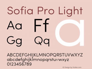 Sofia Pro Light Version 2.000图片样张