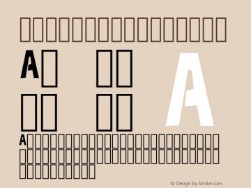 New Font Regular Version 0.000图片样张