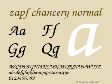 zapf chancery normal 001.003 Font Sample