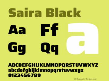 Saira Black Version 1.100图片样张